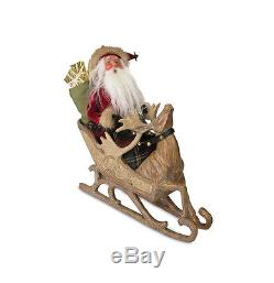 13 Limited Edition Santa in Sleigh with Reindeer Christmas Table Top Decoration