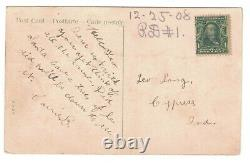1908 Mailick Htl Christmas Postcard Santa Claus Reindeer Sleigh Christkindle Elf