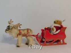 1989 Friends Of Christmas 00118,00 Santa Sleigh & Reindeer#2292 Fully Tagged Mib