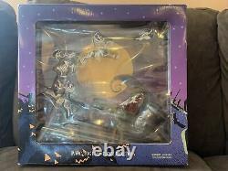 1999nightmare Before Christmas-santa Jack &reindeer Sled-pvc Figurine Collection