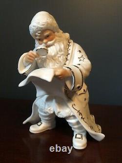 2001 Grandeur Noel Porcelain Santa and Sleigh Collector's 4-Piece Set