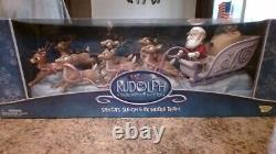 2002 Memory Lane Rudolph & the Island of Misfit Toys Santa's Sleigh & Reindeer