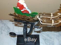 2 Vintage Santa's Sleigh Reindeer / MOON Pendulum Balance Folk art Perpetual