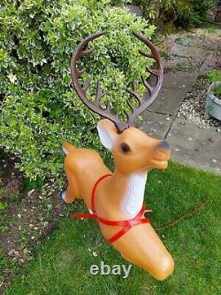 2x Reindeer Blow mold TPI Christmas Light for Santa sleigh decoration blowmold