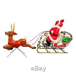 72-inch Santa with Sleigh and Reindeer