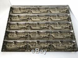 Antique Eppelsheimer & CO NY Chocolate Mold USA MADE Santa Sleigh And Reindeer