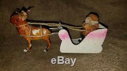 Antique Santa Sleigh & Reindeer