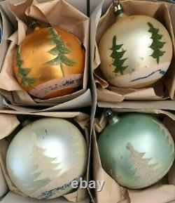 Box Vtg POLAND FANTASIA Santa's Sleigh with Reindeer LARGE Xmas Ornaments RARE