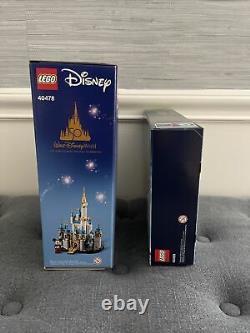 Brand New LEGO Mini Disney Castle #40478 + Santas Sleigh with Reindeers 40499 NEW