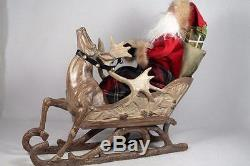 Byers' Choice'Storybook Santa' In Reindeer Sleigh 2015 #ZSS11 LE LARGE NEW