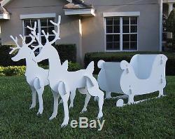 Christmas Decoration Outdoor Santa Sleigh with 2 Reindeer Set
