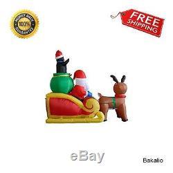 Christmas Inflatable Santa Sleigh Reindeer Penguins Yard Xmas Outdoor Decoration