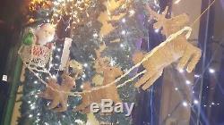 Christmas Santa Reindeer Sleigh Home Decoration Indoor Outdoor Decor Coco Fiber
