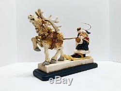 David Frykman 1996 Limited Edition Santa Sleigh Reindeer Christmas DF2010 LE
