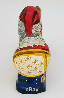 Dedicated 1994 Vaillancourt Folk Art #588/1500 Santa In Sleigh With Reindeer
