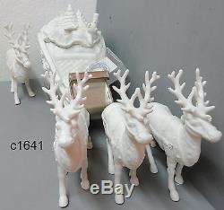 Dept 56 Winter Silhouette SANTA'S SLEIGH & 4 REINDEER Figurine 7795-0 New In Box
