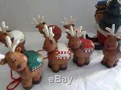 EDDIE WALKER VintageMidwest of Cannon FallsSanta's Sleigh & 8 ReindeerTag, Box
