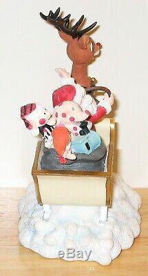 Enesco Rudolph the Red Nosed Reindeer Santa Sleigh Island of Misfit Toys Figure