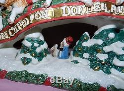 FITZ & FLOYD THE NIGHT BEFORE CHRISTMAS SANTA REINDEER SLEIGH CANDLE HOLDER