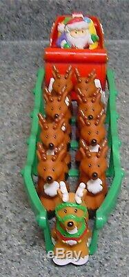 Fisher Price Little People SANTA'S SLEIGH REINDEER POLE NIGHT BEFORE CHRISTMAS