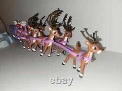 Forever Fun Rudolph the Red Nosed Reindeer Santa's Sleigh and Reindeer Team RARE
