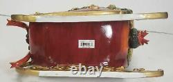 Gorgeous SANTA SLEIGH REINDEER large, H. T. Ardinger & Son