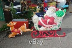 Grand Venture Santa Sleigh & 1 Reindeer Blow Mold