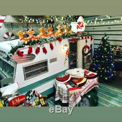 Grand Venture Santa Sleigh & 8 Reindeers Blow Molds