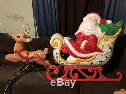 Grand Venture Santa Sleigh & Reindeer Blow Molds