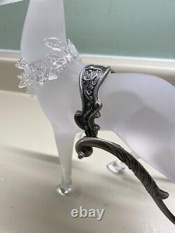 Grandeur Noel Glass Sleigh With Reindeer Figurine Christmas 2002