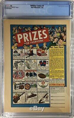 HOLIDAY COMICS # 5 CGC 7.0 OWithW LB Cole Santa Christmas Snow Reindeer Sleigh'52