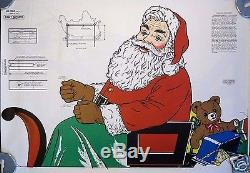 HTF 1970s UNUSED Christmas Plywood Santa Sleigh & Reindeer Patterns Yard Decor