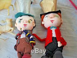 HUGE Lot Vintage Christmas Ornaments 9 lbs Santa Sleighs reindeer ornaments box