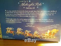 Hallmark 2005 Santa's Midnight Ride 6 Reindeer & Santa's Sleigh New IN box