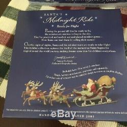Hallmark 2005 Santas Midnight Ride Sleigh & 8 Reindeers Ornaments Complete