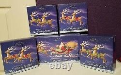 Hallmark Keepsake- 2005 Santa's Midnight Ride Sled & 8 Reindeer complete set