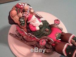 Hallmark Ornament 1997 Colorway Repaint Signed Santa's Magical Sleigh Reindeer