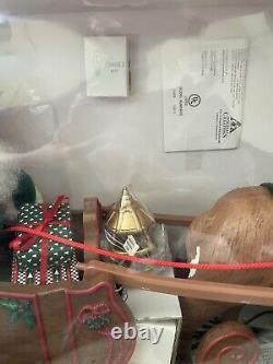 Holiday Creations NIB Animated Musical African American Santa/Reindeer/Sleigh