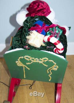 Holiday Living Animated Santa in Sleigh with Reindeer Santa's Best Over 40 Long