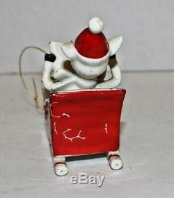 Holt Howard Ornament Reindeer Sleigh 1959 Japan very rare piece (missing Santa)