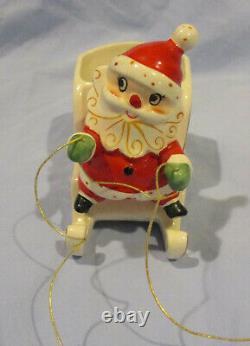 Holt Howard Santa With Sled & Reindeer Candle Holder -1959/1960