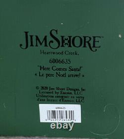 Jim Shore NEW 2020 REINDEER PULLING SANTA IN SLEIGH-HERE COMES SANTA! 6006635