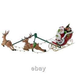 Katherine's Collection Night Before Christmas Santa Sleigh Reindeer 28828322