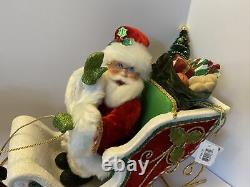 Katherine's Collection SANTA Sleigh & Reindeer Tbltop 28-828335 NEW As Is