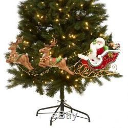 Katherine's collection Santa sleigh reindeer Tree Decor night Before Christmas