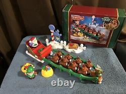 Little People Twas the Night before Christmas, Santa, Reindeer & Sleigh set