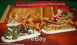 Member's Mark Santa Sleigh with Reindeers MIB Porcelain