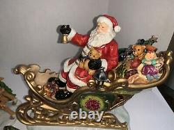 Members Mark Santa Sleigh with Reindeer Christmas decoration pick up Welcome