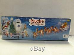 Memory Lane Santas Sleigh and Reindeer Team