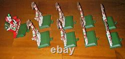 Midwest Cannon Falls Cast Iron Santa Sleigh 8 Reindeer Hanger Stocking Holder